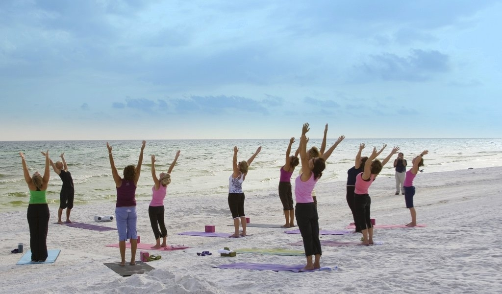 Yoga at Turtle Beach